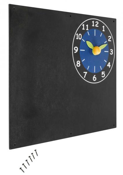 Wandtafel mit Uhr